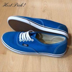 New Vans Royal Blue Canvas Unisex Skate Shoes